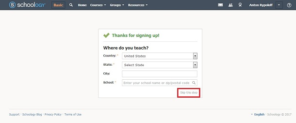 Where do you teach - Schoology